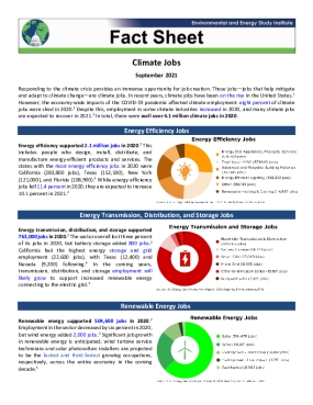 Fact Sheet | Climate Jobs (2021)