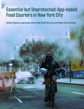 Essential but Unprotected: App-basedFood Couriers in New York City