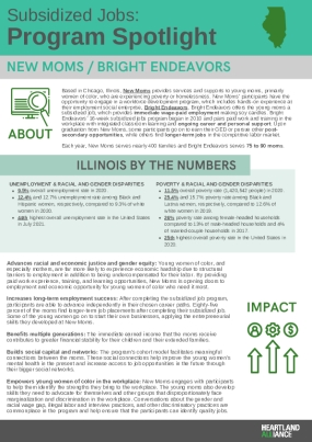 Subsidized Jobs Program Spotlight: Bright Endeavors